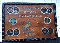Fake Boyce Moto-Meter Sign as revealed on MotometerCentral.com