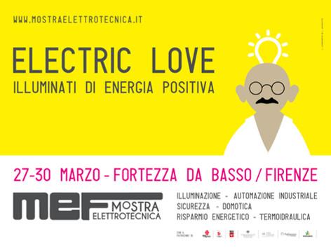 Mef Mostra Elettrotecnica IV ed. 2019 - Electric Love, illuminati di energia positiva