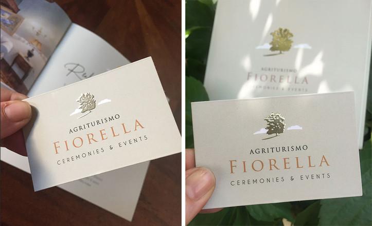 Logo e immagine coordinata Agriturismo Fiorella Ceremonies & Events - 2019