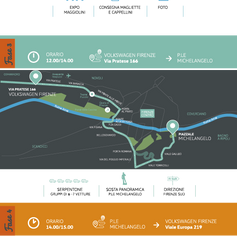 Leaflet con mappa Raduno Volkswagen Golf - 2016