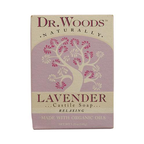 Dr. Woods Castile Bar Soap Lavender 5.25 oz