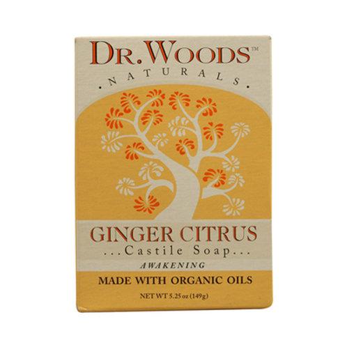 Dr. Woods Castile Bar Soap Ginger Citrus 5.25 oz