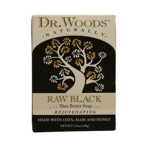 Dr. Woods Bar Soap Raw Black 5.25 oz