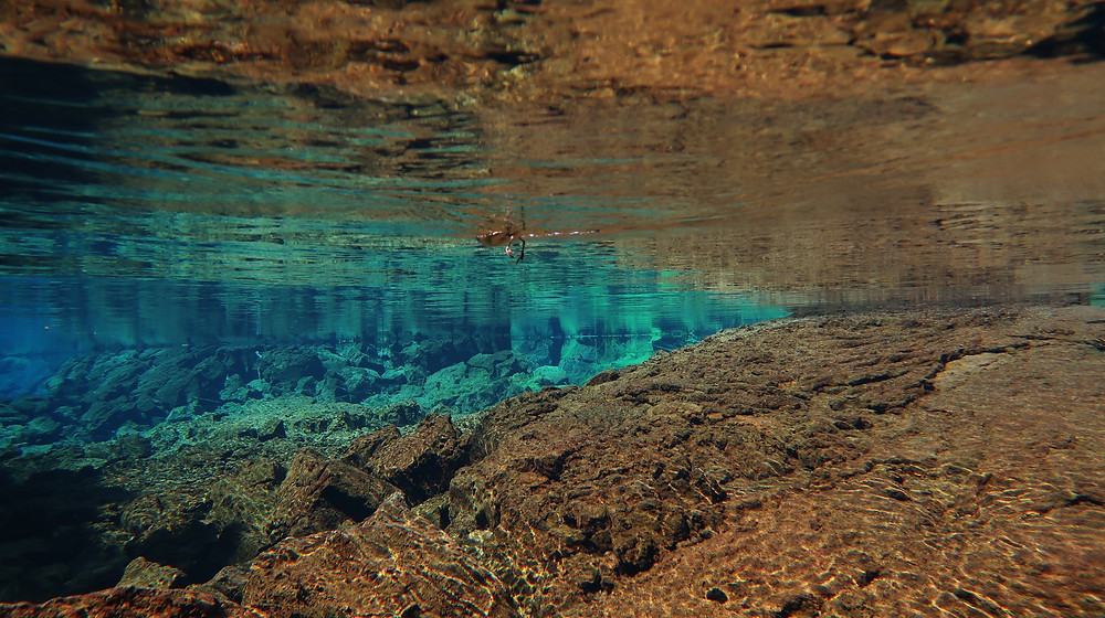 Clear water during the snorkel