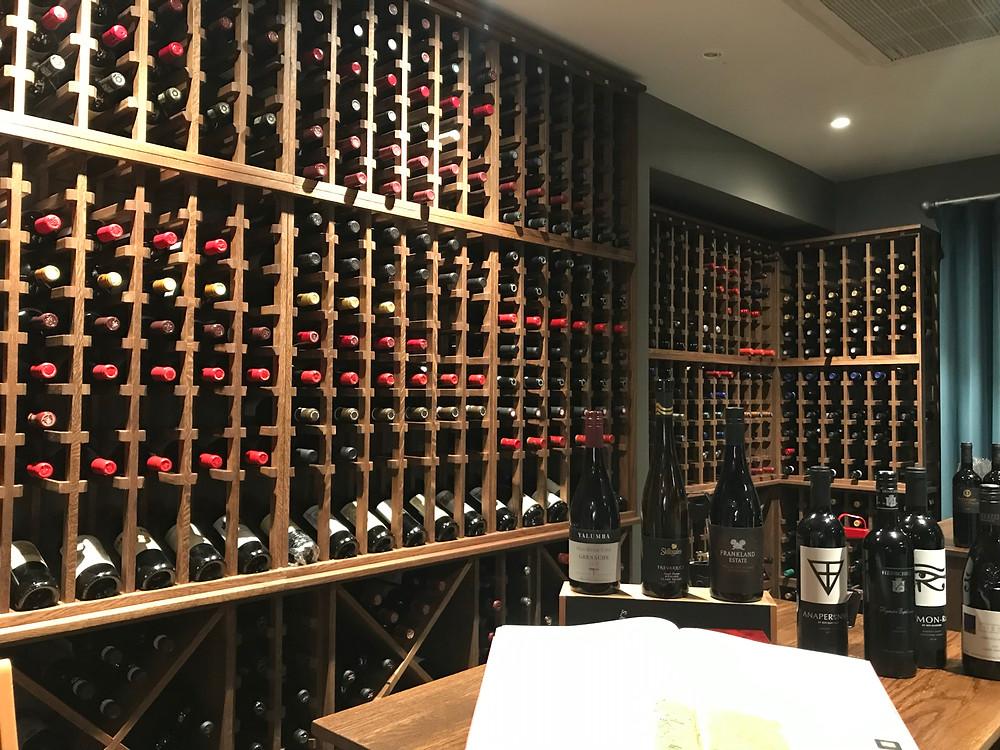 Wine cellar at Glen Eagles