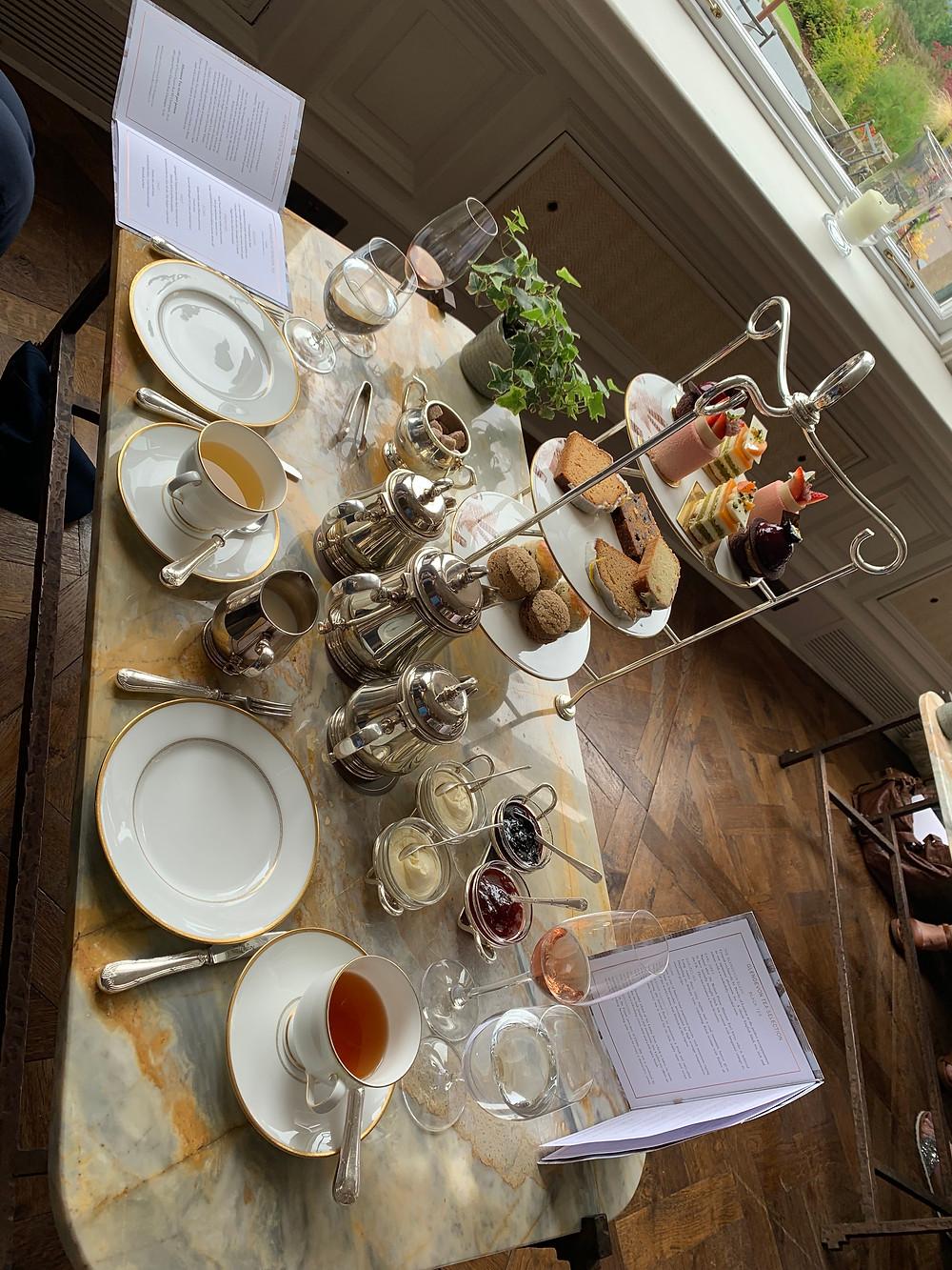 Afternoon tea at Glen Eagles