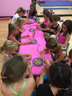 Craft Time! Making beaded bracelets.