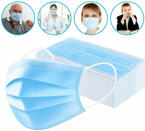 Disposable Face Mask 3 Layer Dust-proof Antibacterial Protective Mouth Masks