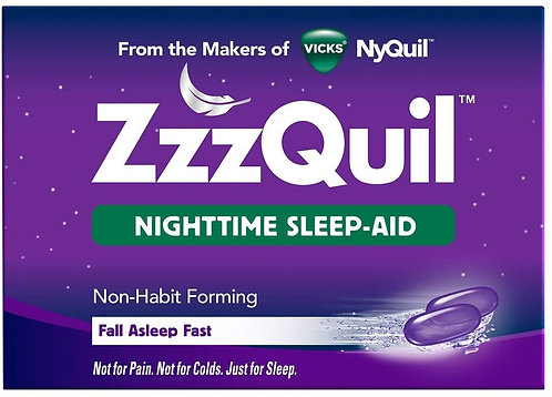 ZzzQuil Nighttime Sleep Aid Liquidcaps, 24 ct, Fall Asleep Fast