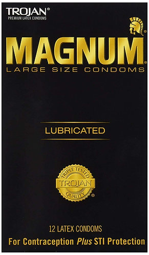 Trojan Magnum Large - whole box with 24 packs of 12  Condoms