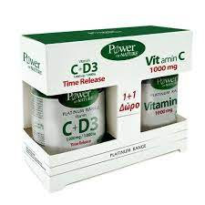 Platinum - Vitamin C + D3 1000mg/1000iu 30s tabs + ΔΩΡΟ Vitamin C 1000mg 20s tab
