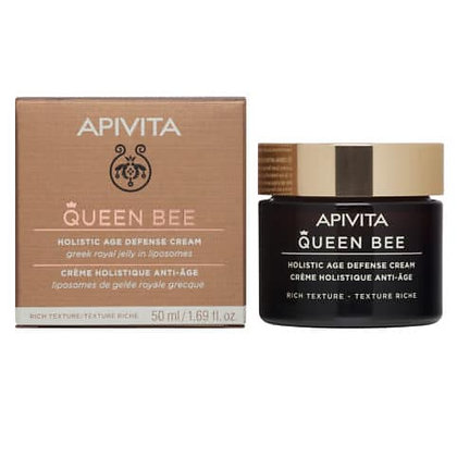 Queen Bee Κρέμα Ημέρας Ολιστικής Αντιγήρανσης Πλούσιας Υφής με ελληνικό βασιλικό