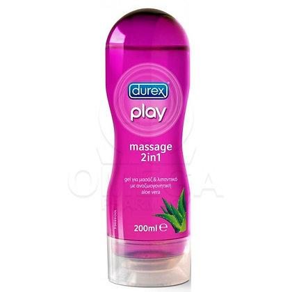 Durex Play Massage 2 σε 1 με Aloe Vera 200ml