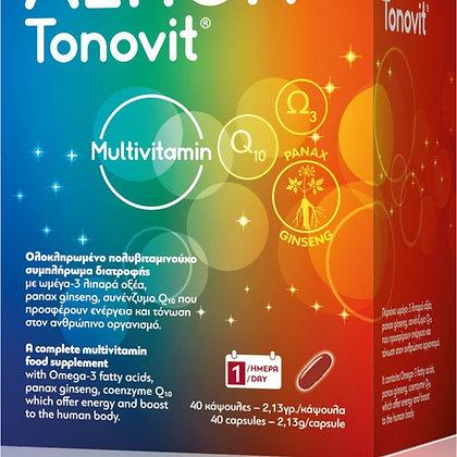 Altion Tonovit - Πολυβιταμίνη Συμπλήρωμα Διατροφής Με Ωμέγα 3, Q10 Και Ginseng