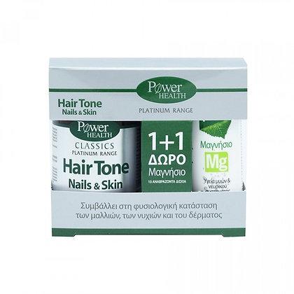 POWER HEALTH - Platinum Hair Tone Nails & Skin 30caps & Δώρο Magnesium 10tabs