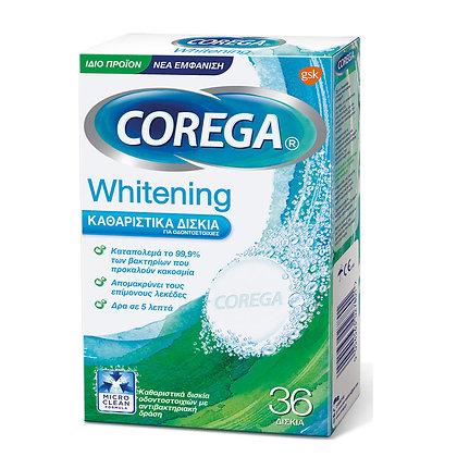COREGA WHITENING Καθαριστικά Δισκία Οδοντοστοιχιών 36tab