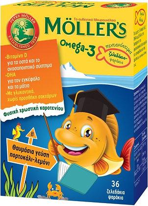 Omega-3 Ζελεδάκια-Ψαράκια με Γεύση Λεμόνι-Πορτοκάλι 36Caps