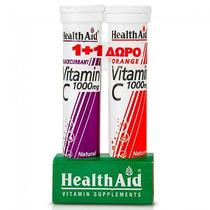 Health Aid Vitamin C 1000mg με Γεύση Φραγκοστάφυλο 20tabs + Δώρο VitaminC 1000mg