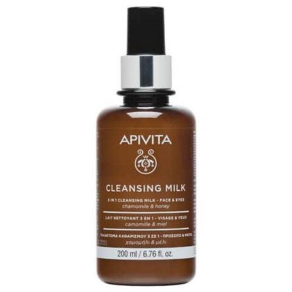Γαλάκτωμα Καθαρισμού 3 Σε 1 Για Πρόσωπο & Μάτια με χαμομήλι & μέλι