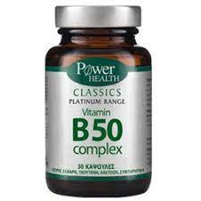 "Power Health Classics ""Platinum"" Vitamin B50 Complex, 30 caps"