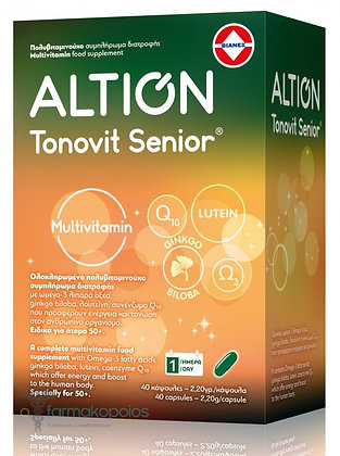Altion Tonovit Senior Ενισχυμένη Πολυβιταμίνη για Σωματική & Πνευματική Τόνωση