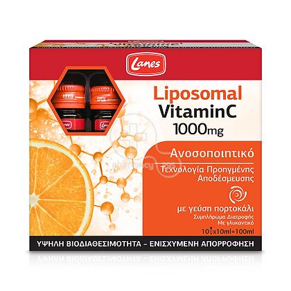 LANES - Liposomal Vitamin C 1000mg (με γεύση πορτοκάλι) - 10x10ml
