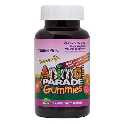 Nature's Plus Animal Parade Gummies Πολυβιταμίνες 50 tabs. Πολυβιταμινούχα ζωάκι
