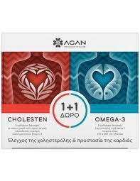AGAN Cholesten Συμπλήρωμα Διατροφής 30 Vegicaps + Omega-3 1000mg