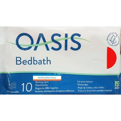Oasis Bedbath Bathing Wipes Πετσέτες Πλυσίματος Κλινήρους Ασθενούς 10 Τεμάχια