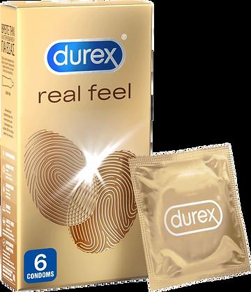 Durex Προφυλακτικά Πολύ Λεπτά Χωρίς Λάτεξ Real Feel 12 Τεμάχια