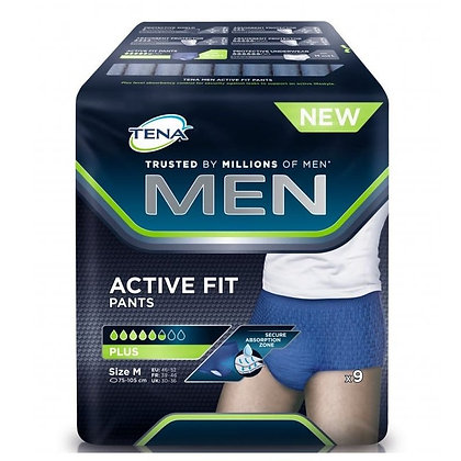 Tena Men Active Fit Pants Medium 9pcs
