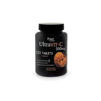 Power Health Power Nature Ultravit-C 500mg Συμπλήρωμα Διατροφής Βιταμίνης C Για