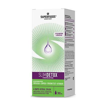 Superfoods Slim Detox, Φόρμουλα Αποτοξίνωσης & Αδυνατίσματος 300ml