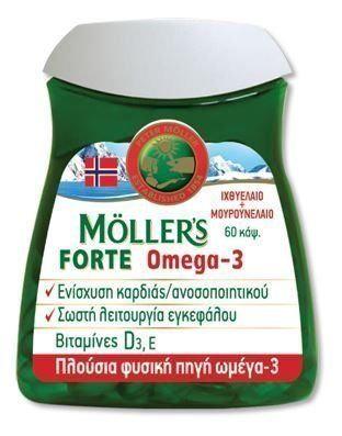 FORTE OMEGA-3 60 CAPS - MOLLER'S