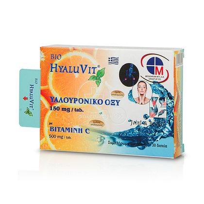 Hyaluvit Υαλουρονικο Οξυ 150mg & Vitamin C 500mg 30tabs