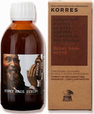 Korres Σιρόπι με Μέλι, Μάραθο, Γλυκάνισο και Θυμάρι για το Βήχα
