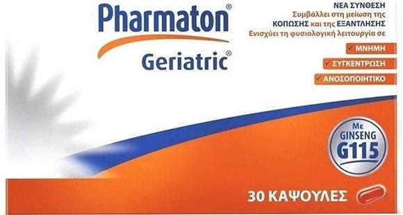 Sanofi Pharmaton Geriatric Ginseng G115 Συμπλήρωμα Διατροφής με Τζίνσενγκ 30soft