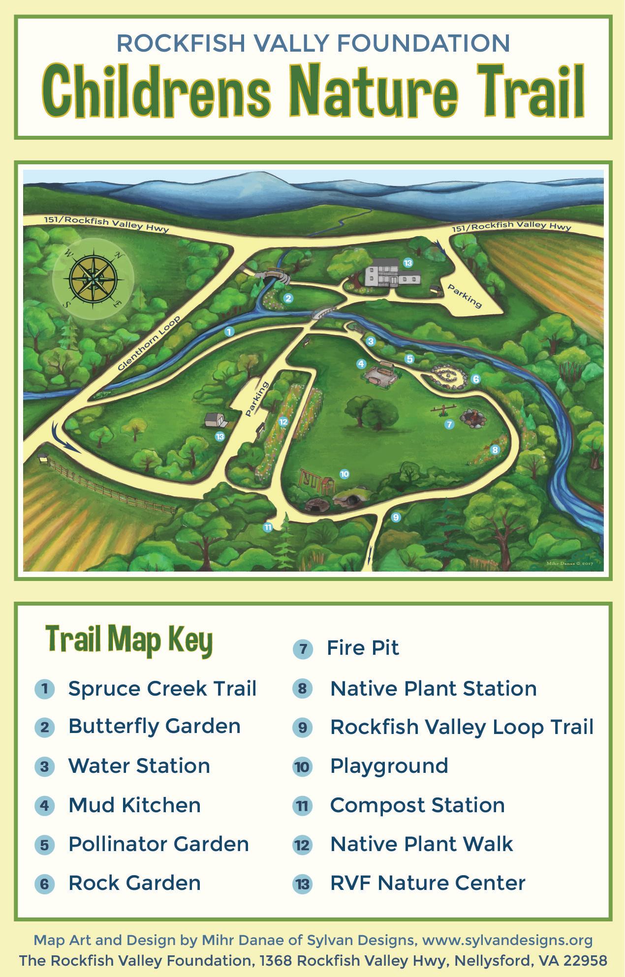 RVF Kids Nature Trail Map