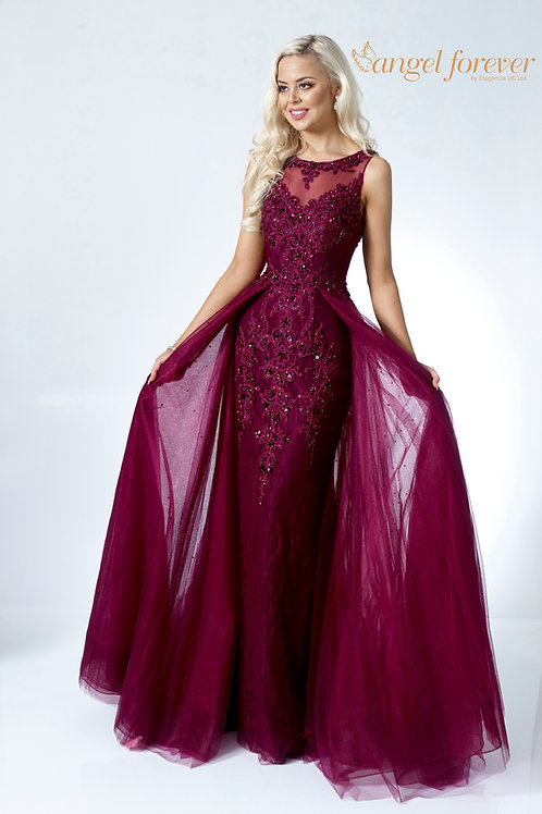 Cape From Waist with Tulle & Lace