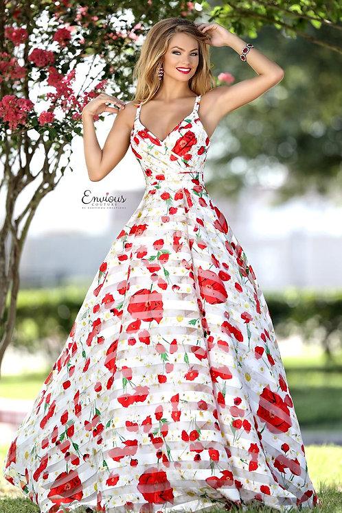 Envious Couture - PRINTED ORGANZA - 18136