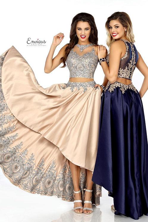 Envious Couture - BEADED MATTE SATIN - 18130