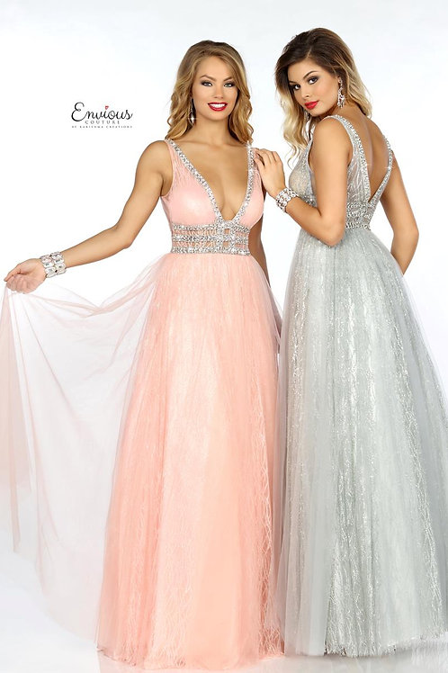 Envious Couture - BEADED TULLE - 18079