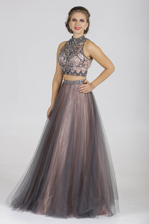 Tulle With Heavily Beaded Top