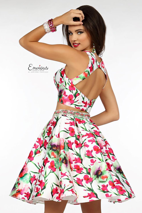 Envious Couture - BEADED PRINTED MIKADO - 18143