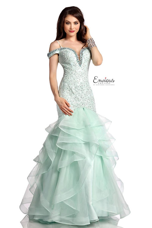 Envious Couture - BEADED TULLE/ORGANZA  - 18027
