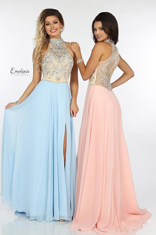 Envious Couture - BEADED TULLE/CHIFFON    - 18159