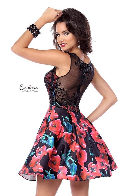 Envious Couture - PRINTED MIKADO/TULLE  - 18031