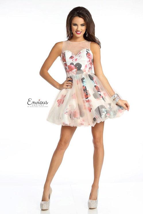Envious Couture - PRINTED MIKADO/TULLE OVERLAY  - 18008