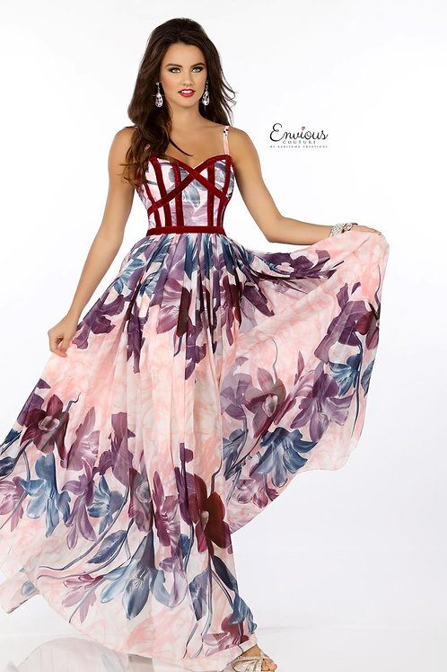 Envious Couture - PRINTED POLYESTER CHIFFON  - 18111