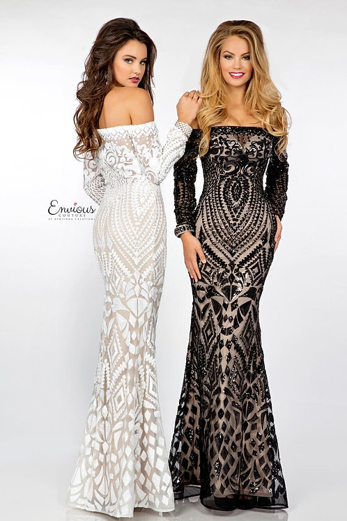 Envious Couture - SEQUINED TULLE  - 18039